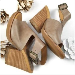 💥 Kork-Ease 💥 Nude Tan Open Toe Platform Mule 6